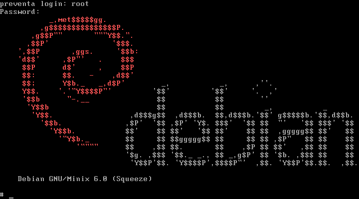 Debian Minix MOTD banner